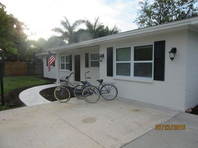 Photo for Recently Renovated, Private Beach Ferry, Bikes, BBQ, beach chairs...