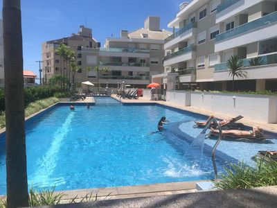 Photo for 2 bedroom apartment with incredible leisure area in front of the beach