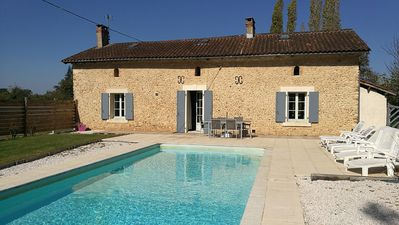 Photo for STONE FARMHOUSE - STYLE COTTAGE WITH SWIMMING POOL IN PERIGORD WHITE -