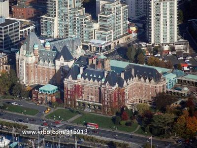 Aerial View of The Falls behind the Empress Hotel