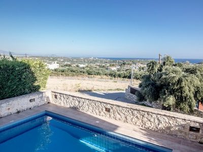 Photo for Helidonia Villas: Stunning Sea View & Private Pool, Near Beach & Rethymno Town
