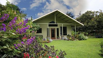The Guest House setting is full of lush gardens, creating an oasis for birding.