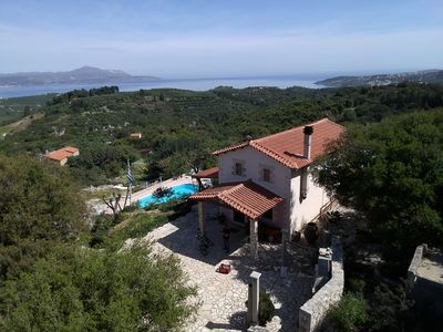 Photo for VILLA ONEIRO  IN TSIVARAS WITH SPECTACULAR VIEW TO THE SEA AND MOUNTAINS