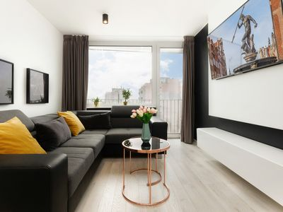 Photo for Westerplatte Apartment in Gdańsk | WiFi, Smart TV, Balcony