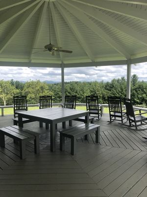 Grab a rocker and enjoy the long range views and relax!