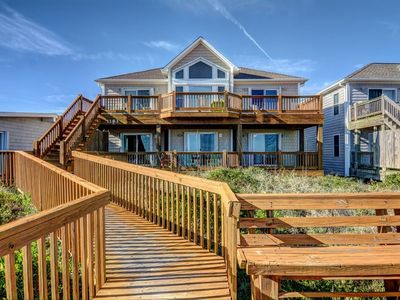 Photo for Barefoot Bungalow: 4 Br / 4 Ba Oceanfront In Topsail Beach, Sleeps 8