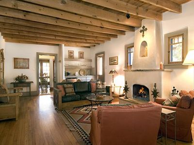 Photo for Santa Fe Treasure, 3 Bedrooms, Sleeps 6, Hot Tub, Patio, Fireplace, Grill