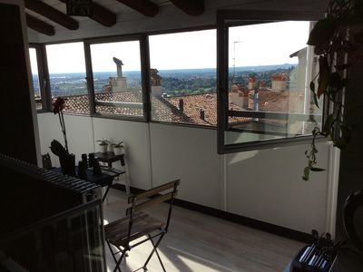 Photo for Loft with panoramic views in the heart of Bergamo Alta