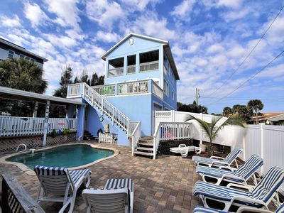 Photo for House on Oceanfront Property, Great Ocean View, Steps To The Sand, Sleeps 10