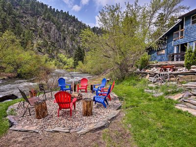 Photo for NEW! Rapid Creek Waterfront Cabin in Black Hills!