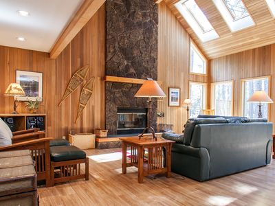 Photo for Lofty, tree-lined home w/ shared hot tub, pool, sauna, tennis, golf & more!