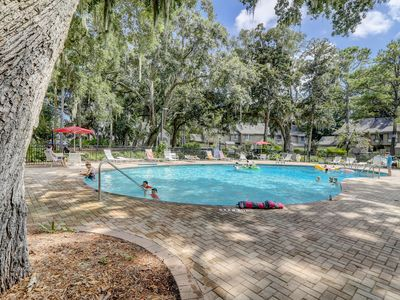 Photo for NEW LISTING! Spacious condo w/ shared pool & tennis courts - Golf on-site!