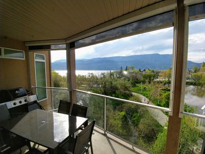 Photo for Serene Lakeviews from this 4th floor King Suite at Discovery Bay  in Kelowna BC