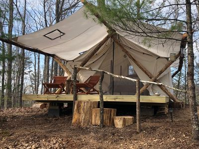 Photo for Glamping In The Smokies, Canopy Ridge Luxury Tents