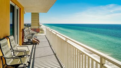 Photo for Splash end unit with a stunnning view, both rooms on the gulf Spring dates open!