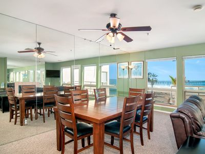 Photo for Oceanview Condo Overlooking Beach And Pier W/ Pool