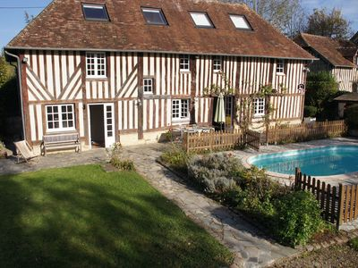 Photo for Superb Norman half-timbered house in the heart of the Auge