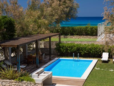 Photo for Aeriko-Anemos Beachfront Villa with Stunning View and Private Pool.
