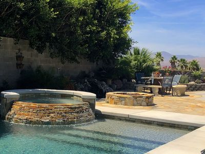 Photo for ★ Koi Springs ★ Panoramic View, Mineral Saltwater Pool/Spa, Koi pond, Fire pit