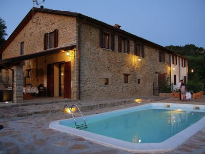 Photo for Apartment in the green of the vineyards with swimming pool.