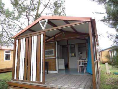 Photo for RENTED CHALET ON CAMPING WITH SWIMMING POOL AREA NEW