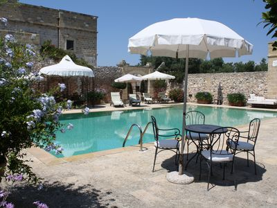 Photo for STUNNING HISTORIC VILLA/MASSERIA WITH LARGE CHILD-SECURE POOL IN SALENTO, PUGLIA