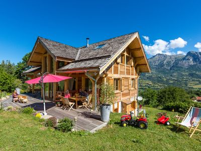 Photo for Grand Chalet upscale wood, village resort, only in summer.