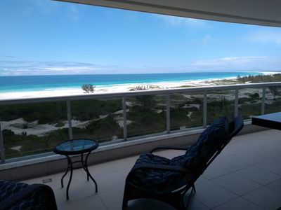 Photo for FANTASTIC VIEW OF FRONT TO THE BEAUTIFUL BEACH WITH BEST SUNSET OF THE REGION.