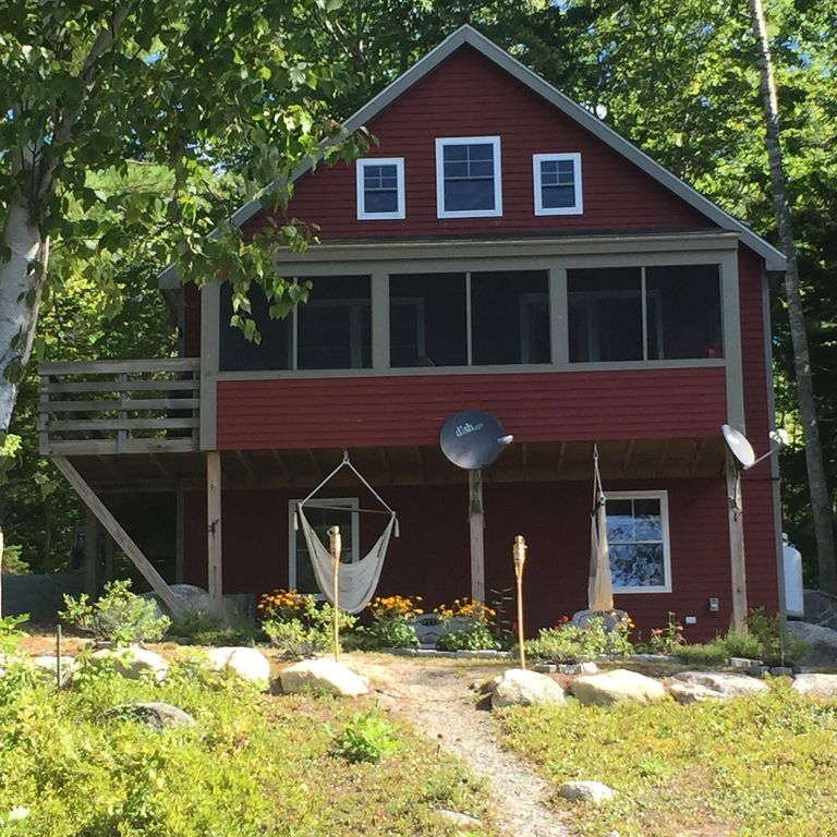 Cottage on upper patten pond near acadia national park for Cottage builders near me