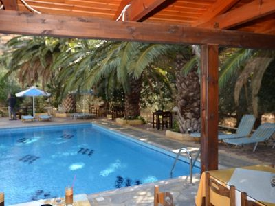Photo for The total of 10 apartments for 4 persons located in the Ibiscus on the south coast of Crete in Rodakino.