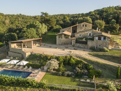 Photo for Amazing top quality stone mansion 9BR & 6BA, full Spa: pool, games room & views
