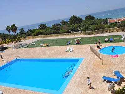 Photo for Luxurious 1 bedroom apartment with sea views 3 minutes walk to beach