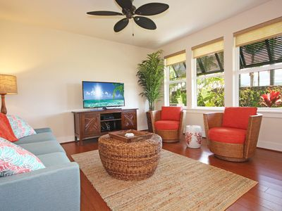 Photo for Free Rental Car, PM 15H Brand New Ground Floor A/C Condo In Poipu