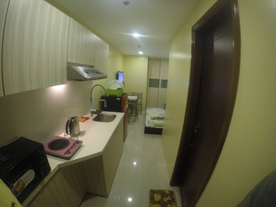 Photo for New and fully furnished studio type condo for family and friends.
