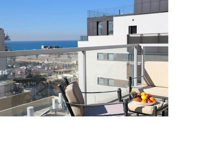 Photo for Luxury Duplex 180M2, 3BDR, see view, 1min from the beach