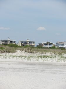 View of the townhome from the beach