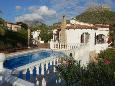 Photo for Great house with private pool and stunning views of sea and Penon de Ifach