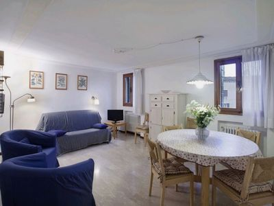 Photo for Stefano F3: bright apartment with a view on Campo Santo Stefano near Academia