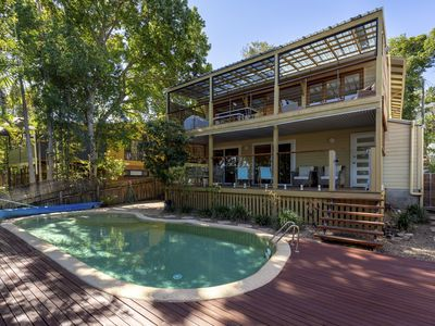 Photo for Spacious Noosa beachhouse - where the forest meets the sea - with heated pool!