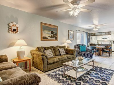 Photo for Comfortable, recently remodeled condo w/ shared pool, steps from the beach!