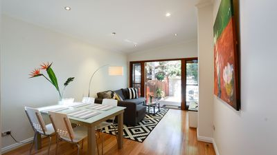 Photo for Fresh clean & bright - Newtown house opp park, walk to station