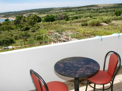 Photo for Studio flat with terrace and sea view Caska (Pag)