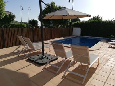 Photo for Large luxury 3 bed detached villa, private pool, WiFi & AC