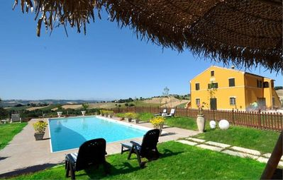 Photo for Casa Giacomina A: A cozy and welcoming apartment that is part of a villa situated in a secluded location surrounded by meadows and by green hills, with Free WI-FI.