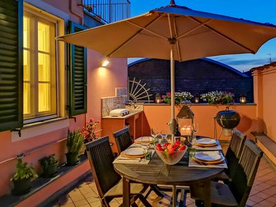 Photo for Borgotto - appartament with private furnished terrace in Lucca, WiFi, A/C.