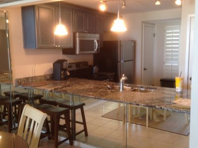 Updated kitchen with granite counter tops and ALL new stainless steel appliances!