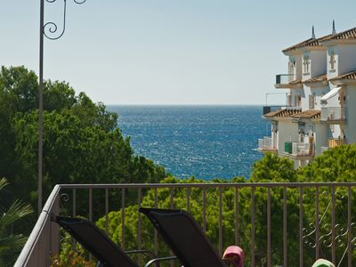 Photo for Beachfront Penthouse, Sea/mountain Views, 3 Balconies, Puerto Banus, Marbella