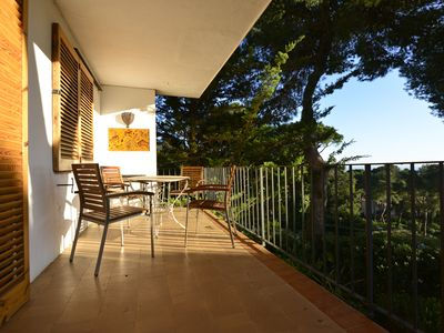 Photo for Spacious apartment with pool and sea views. Very close to beach and town