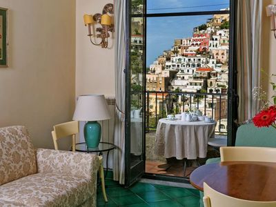Photo for Lower second floor one bedroom apartment Positano  Palace S is in a magnificent panoramic position,