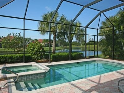 Private Pool with Spa in the large Lanai.  Complete with gas grill and seating.